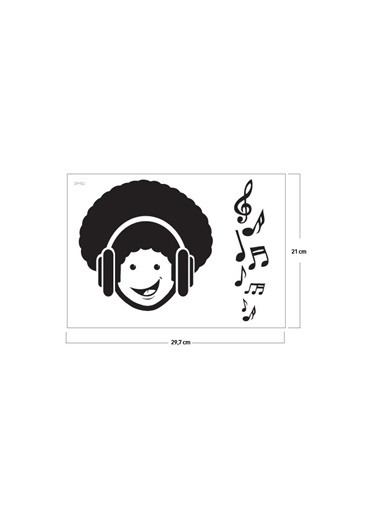 Disney Dj Hippi Klozet Sticker 18X18 Cm Renkli